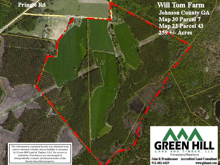 Johnson County Ga 259 Acres Green Hill Land And