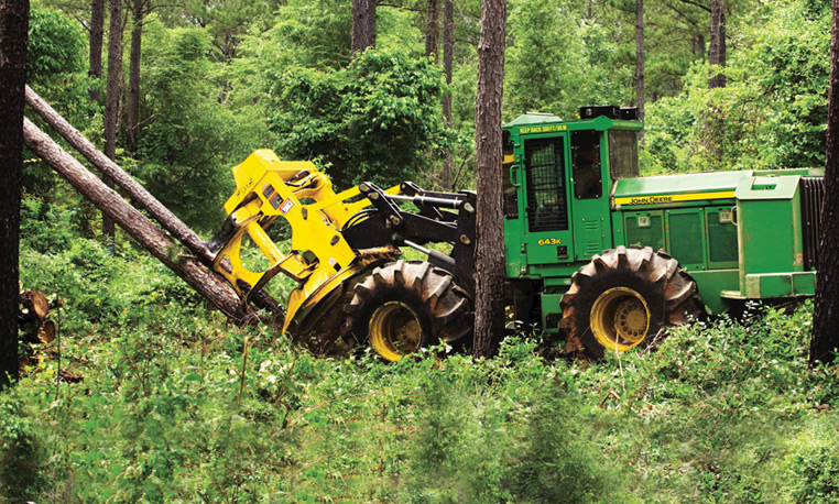 john deer feller buncher