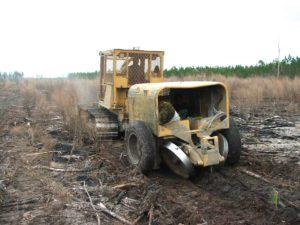 V Blade Bulldozer with Machine Planter